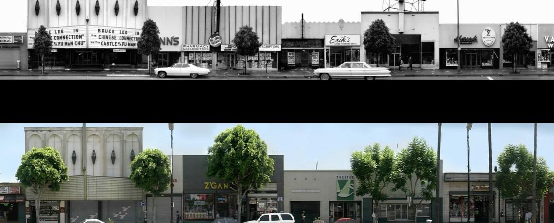 Ed Ruscha's Hollywood Boulevard on Hollywood Boulevard