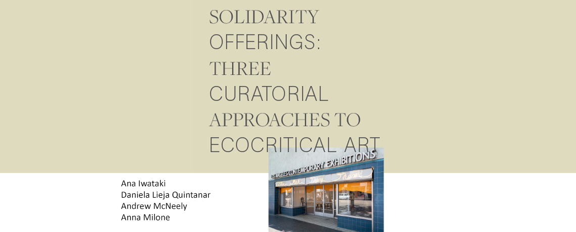 FREE ONLINE PUBLICATION | Solidarity Offerings: Three Perspectives to Ecocritical Art