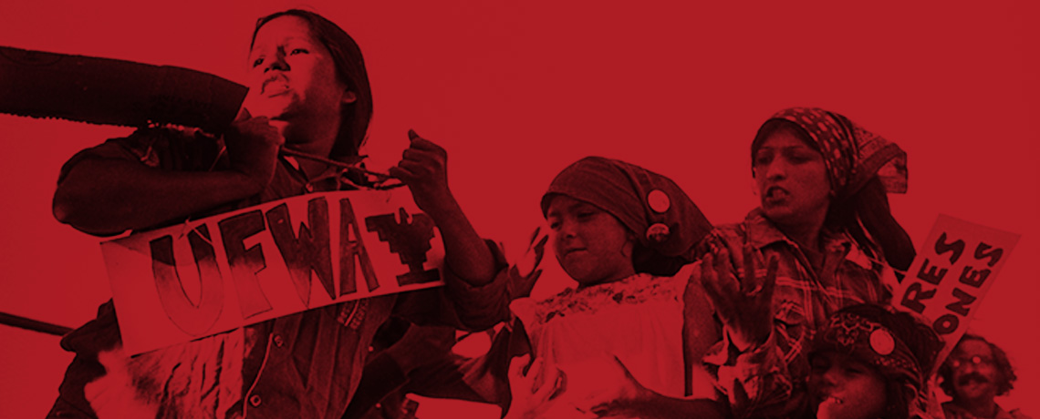 "Banner Image promoting the release of a free online publication called ""El Teatro Campesino (1965-1975)"