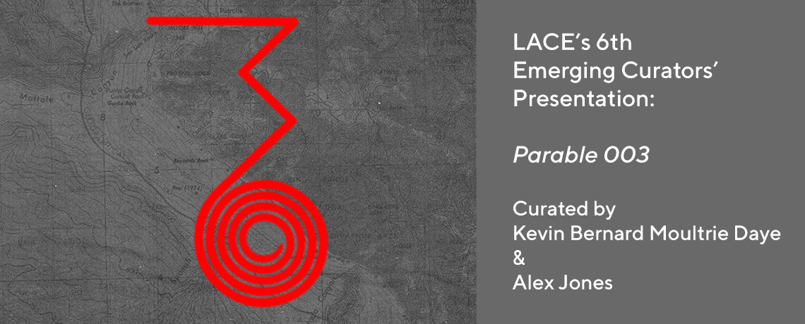 Web Banner promoting the exhibition Parable 003