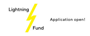 webbanner promoting that LACE lightning fund recovery grant applications are now open